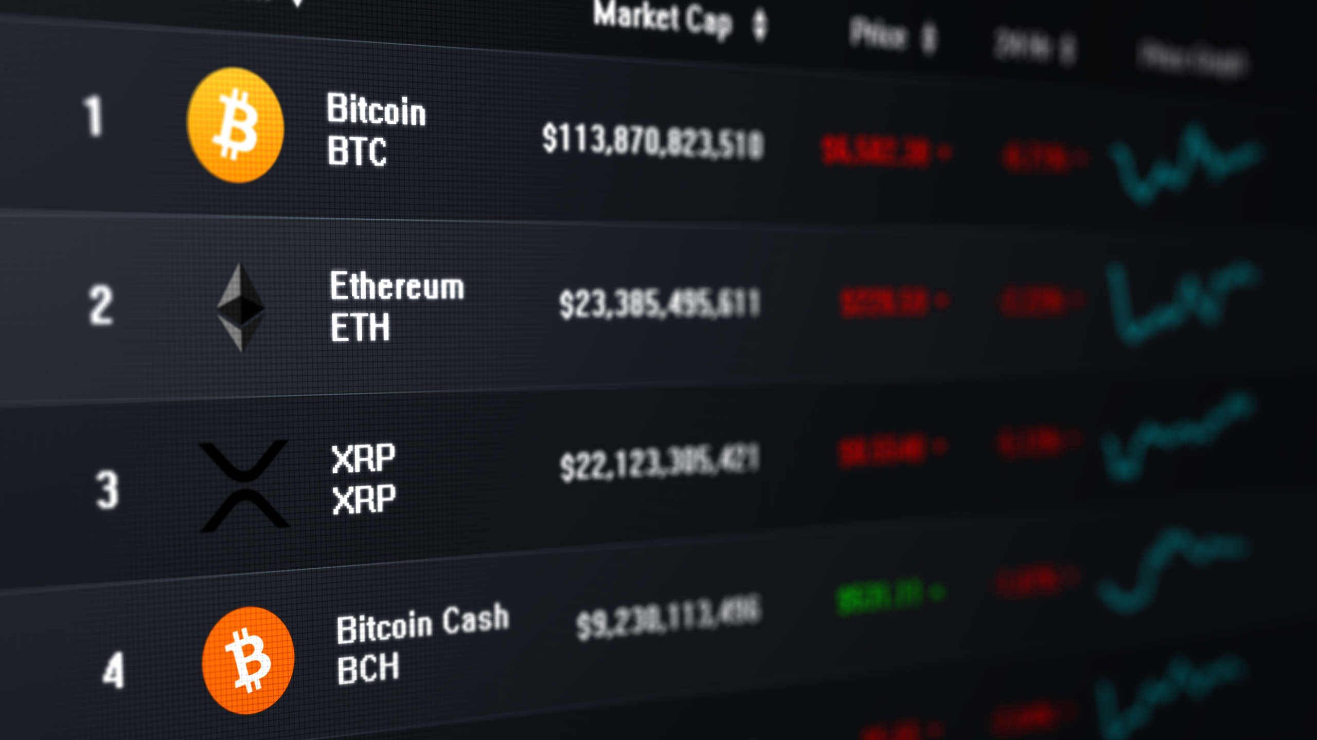 crypto price list
